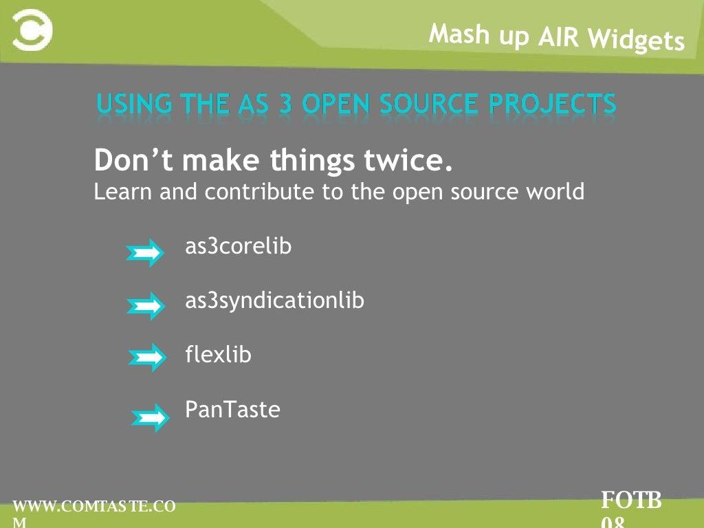 Mash up air widgets fotb.