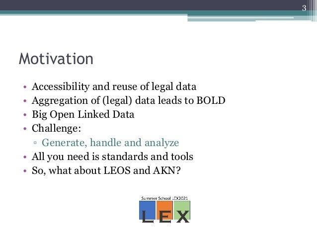 Advancements in legal interoperability through LEOS repurposing - the merit of AKN and Enterprise Integration Patterns Slide 3