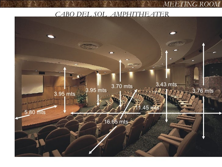 CABO DEL SOL  AMPHITHEATER MEETING ROOM 3.95 mts 5.80 mts 3.95 mts . 3.70 mts . 16.65 mts . 3.43 mts 3.76 mts 11.45 mts