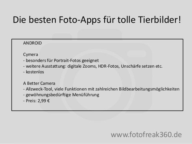 Die besten Foto-Apps für tolle Tierfotografie - Fotofreak360 Slide 3