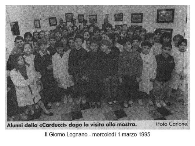 Foto articolo il giorno 1.3.95   volantini comune legnano per mostra bambini di terezìn 1995
