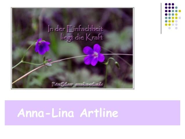 EinfachheitAnna-Lina Artline