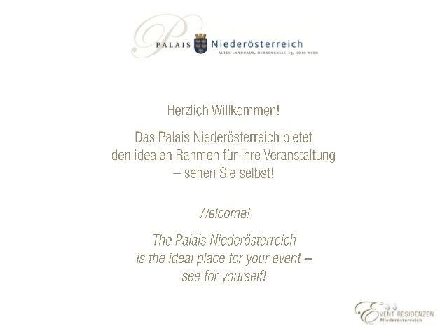Palais Niederösterreich - MICE Presentation 2019