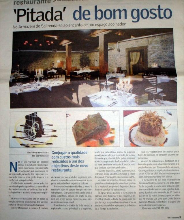Pitada de bom gosto in Diário de Notícias da Madeira - Agosto de 2007