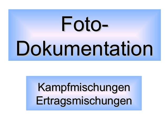 FotoDokumentation Kampfmischungen Ertragsmischungen