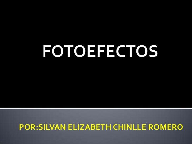 POR:SILVAN ELIZABETH CHINLLE ROMERO