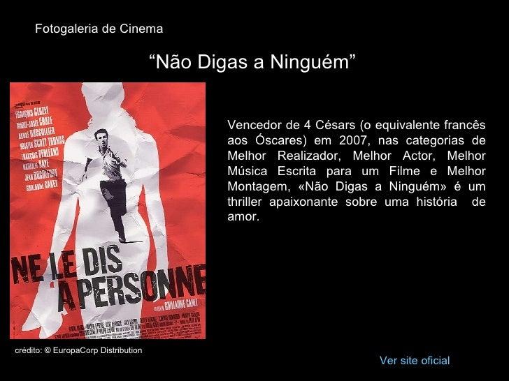 """Fotogaleria de Cinema                                       """"Não Digas a Ninguém""""                                         ..."""