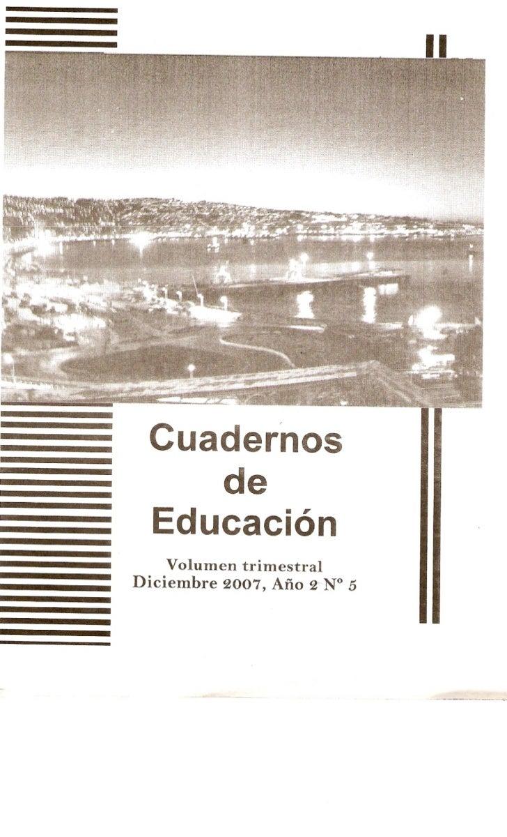 Cuadernos de Educación 2007 DIC-FEB (año2) nº5