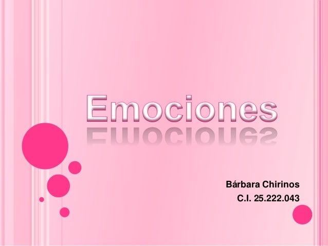 Bárbara ChirinosC.I. 25.222.043