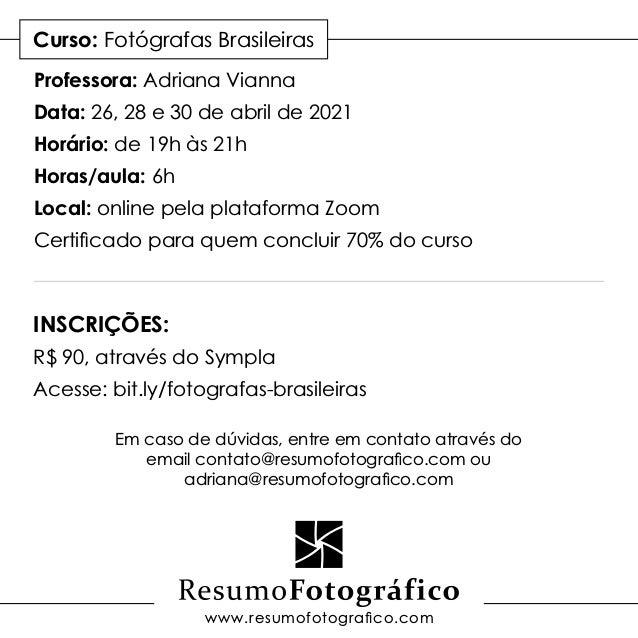Fotógrafas Brasileiras Slide 3