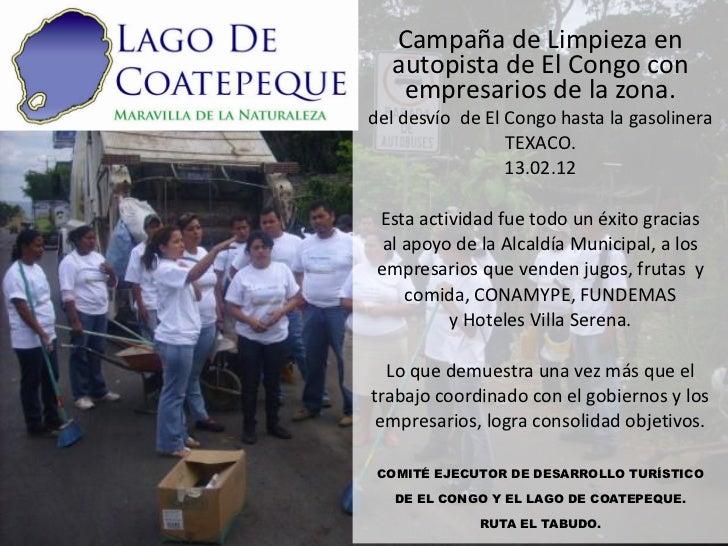Campaña de Limpieza en  autopista de El Congo con   empresarios de la zona.del desvío de El Congo hasta la gasolinera     ...