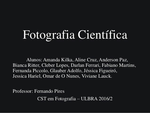 Trabalho Fotografia Científica