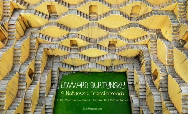 EDWARD BURTYNSKY A Natureza Transformada  ULHT | Mestrado em Design | Fotografia | Prof. Antonio Ramos Luis Morgado 2014