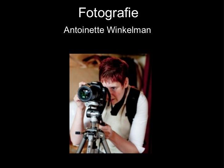 Fotografie Antoinette Winkelman