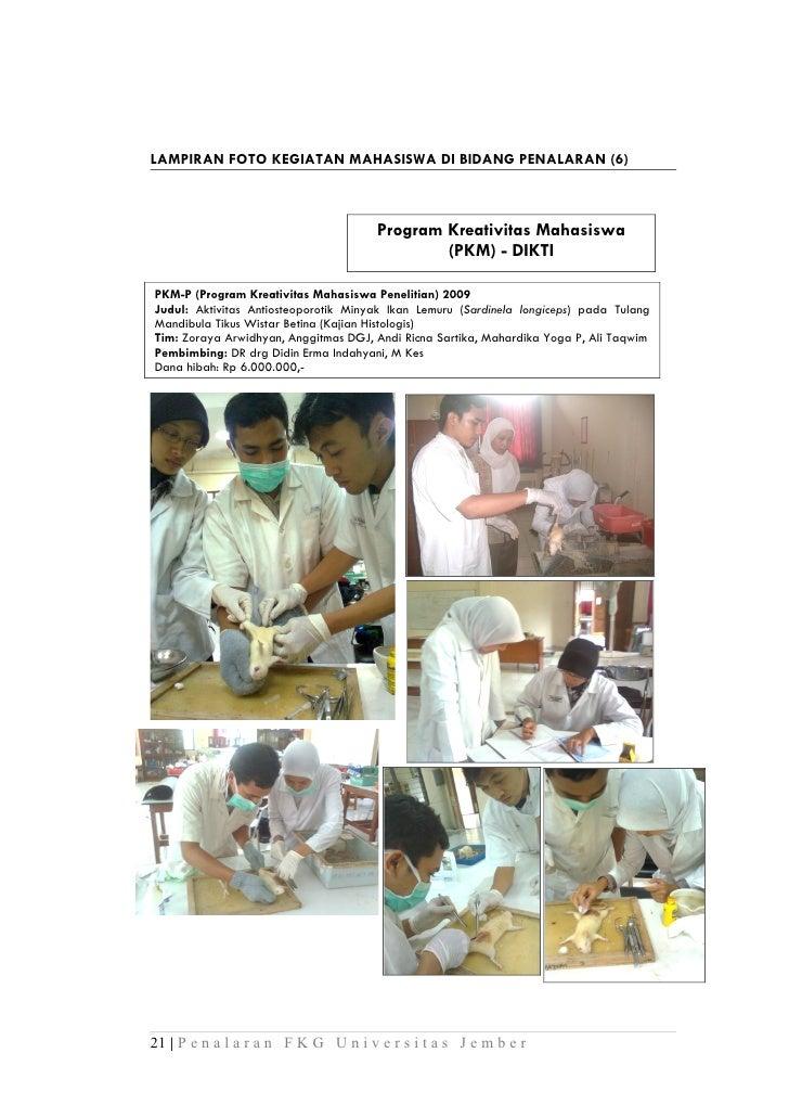 LAMPIRAN FOTO KEGIATAN MAHASISWA DI BIDANG PENALARAN (6)                                      Program Kreativitas Mahasisw...