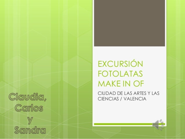 EXCURSIÓNFOTOLATASMAKE IN OFCIUDAD DE LAS ARTES Y LASCIENCIAS / VALENCIA