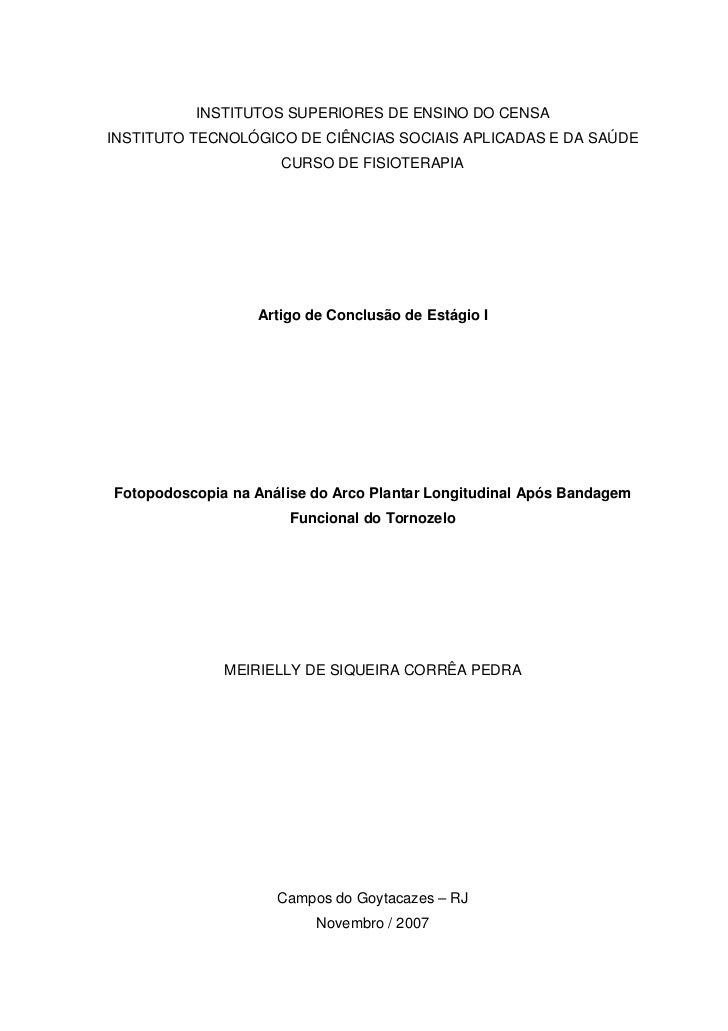 INSTITUTOS SUPERIORES DE ENSINO DO CENSAINSTITUTO TECNOLÓGICO DE CIÊNCIAS SOCIAIS APLICADAS E DA SAÚDE                    ...
