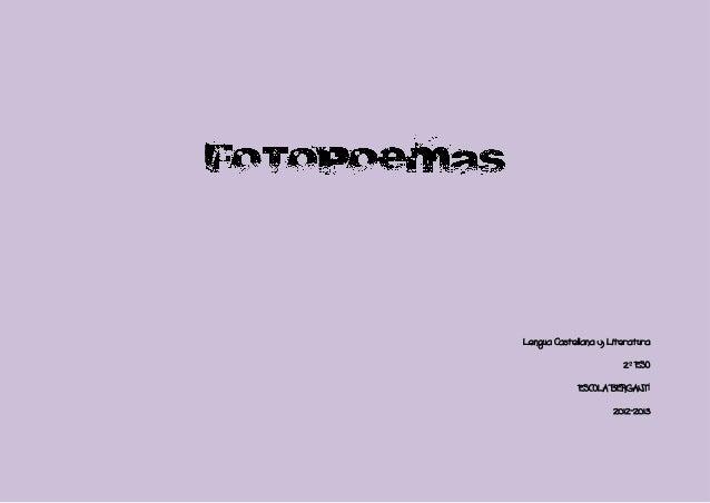 Lengua Castellana y Literatura                       2º ESO             ESCOLA BERGANTÍ                     2012-2013
