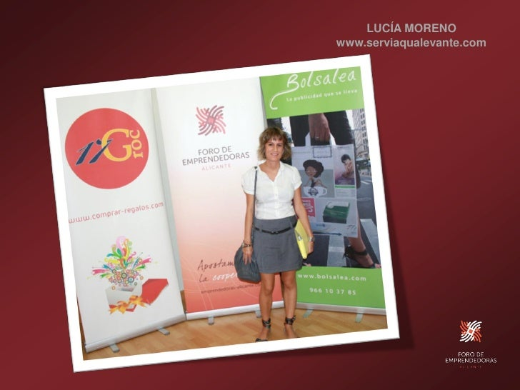 LUCÍA MORENO www.serviaqualevante.com