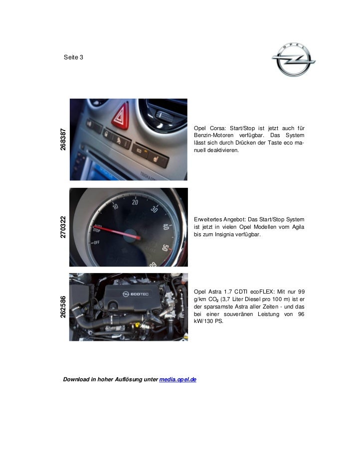 Seite 3                                                Opel Corsa: Start/Stop ist jetzt auch für268387                    ...
