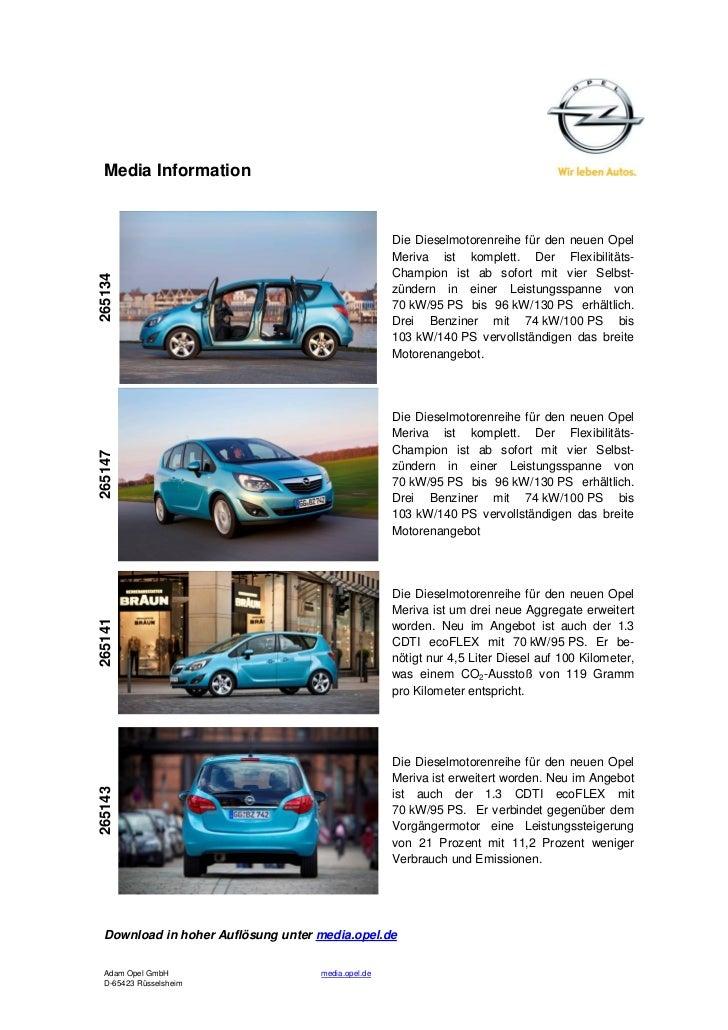 Media Information                                                    Die Dieselmotorenreihe für den neuen Opel            ...