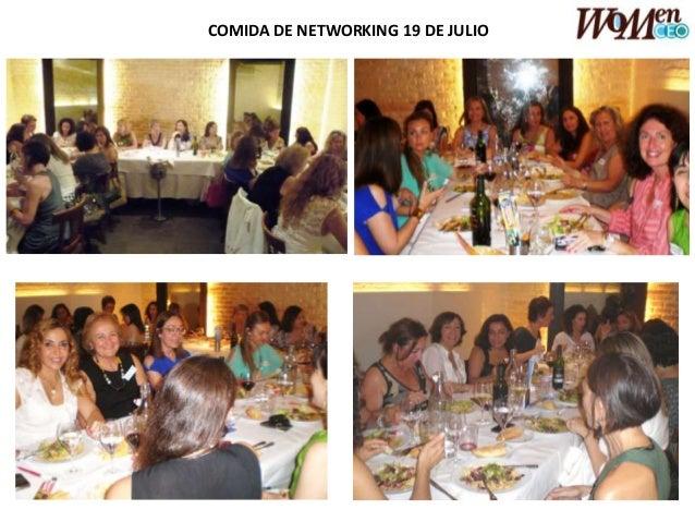 COMIDA DE NETWORKING 19 DE JULIO