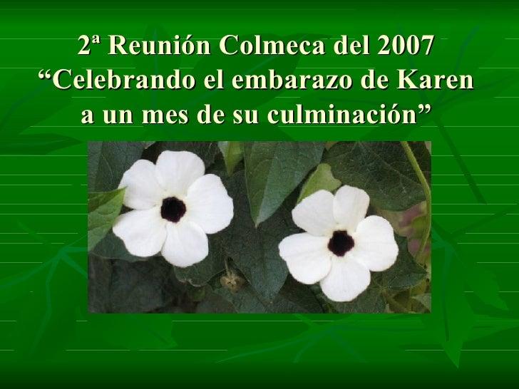 """2ª Reunión Colmeca del 2007 """"Celebrando el embarazo de Karen a un mes de su culminación"""""""