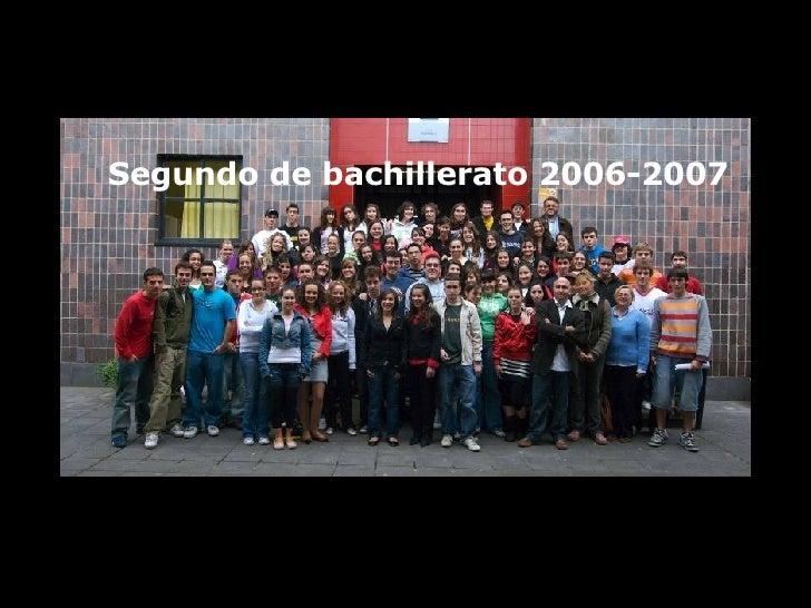 Segundo de bachillerato 2006-2007