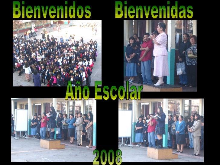 2008 Bienvenidos Bienvenidas Año Escolar