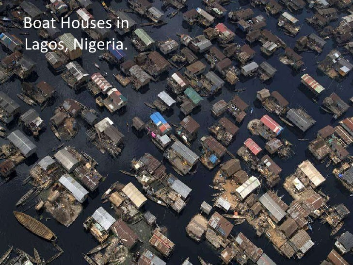 Boat Houses in Lagos, Nigeria.<br />