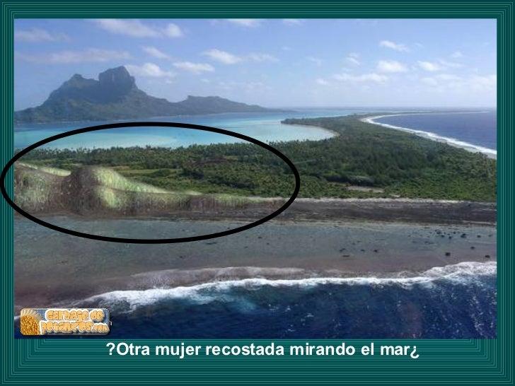 ¿Otra mujer recostada mirando el mar?