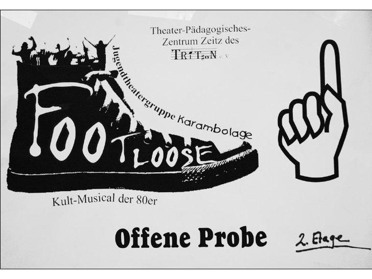 """Fotos aus Proben zu """"Footloose"""""""