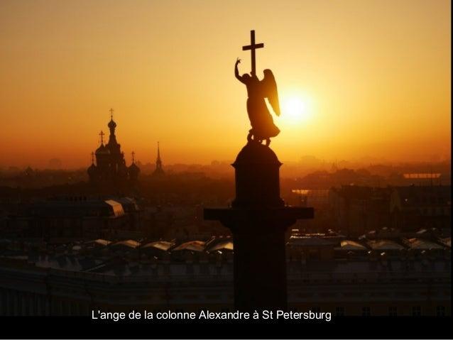 L'ange de la colonne Alexandre à St Petersburg