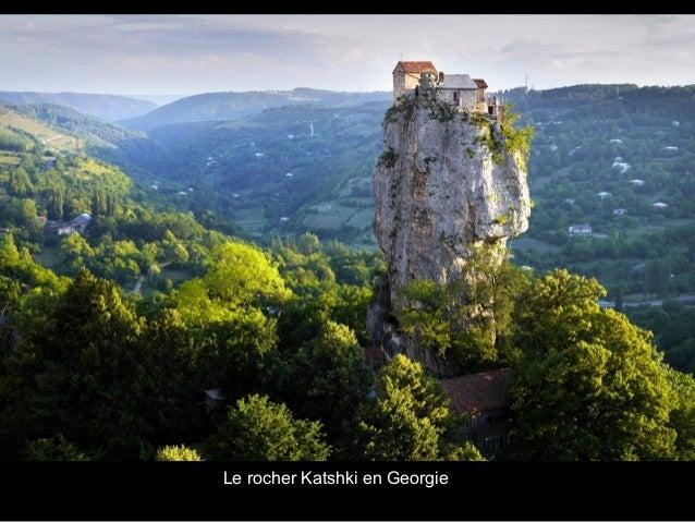 Le rocher Katshki en Georgie