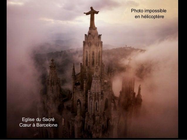 Eglise du Sacré Cœur à Barcelone Photo impossible en hélicoptère
