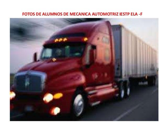 FOTOS DE ALUMNOS DE MECANICA AUTOMOTRIZ IESTP ELA -F