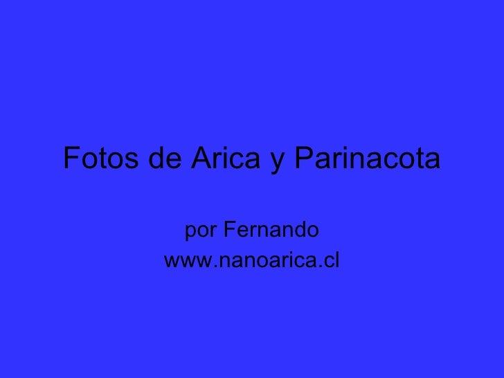 Fotos de Arica y Parinacota por Fernando www.nanoarica.cl