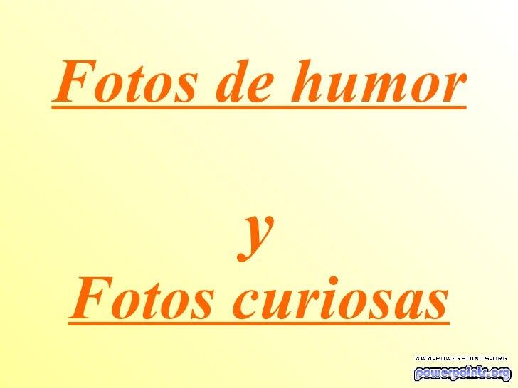 Fotos de humor  y Fotos curiosas
