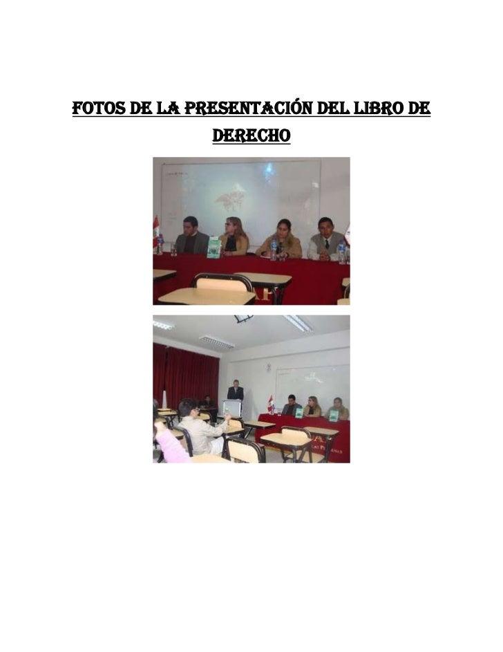 Fotos de la presentación del libro de              derecho