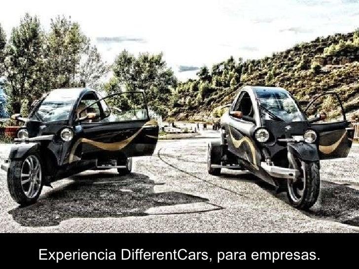 Experiencia DifferentCars, para empresas.