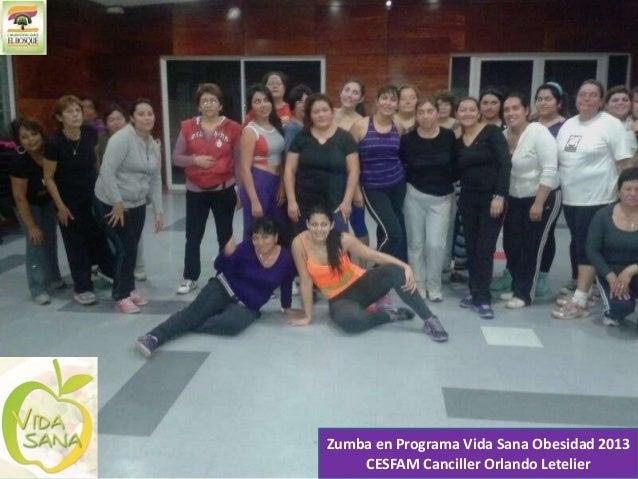 Zumba en Programa Vida Sana Obesidad 2013 CESFAM Canciller Orlando Letelier