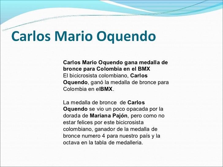 Carlos Mario Oquendo gana medalla debronce para Colombia en el BMXEl bicicrosista colombiano, CarlosOquendo, ganó la medal...