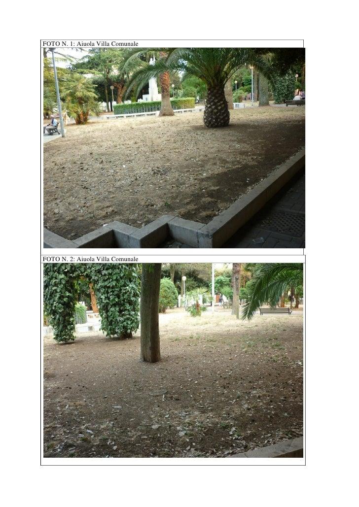 FOTO N. 1: Aiuola Villa ComunaleFOTO N. 2: Aiuola Villa Comunale