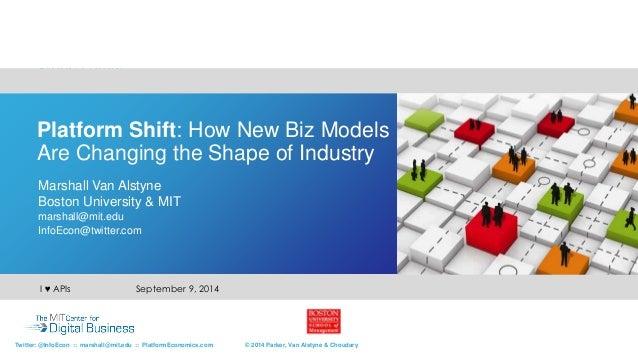 Platform Shift: How New Biz Models  Are Changing the Shape of Industry  Marshall Van Alstyne  Boston University & MIT  mar...