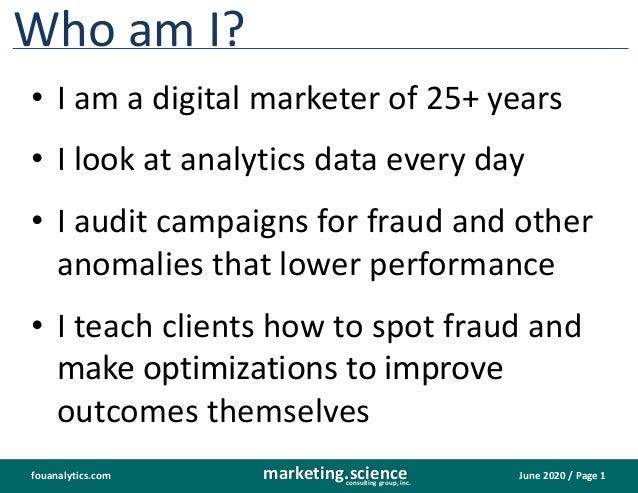 FouAnalytics DIY site media analytics fraud detection baked in Slide 2