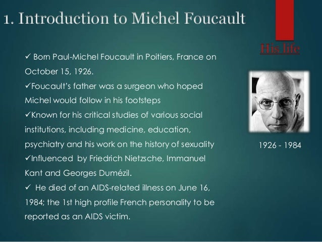 critical essays of michel foucault Paul-michel foucault was born in poitiers  critical and effective histories: foucault's methods and historical a series of essays on various foucaultian.