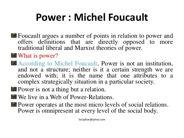 michel foucaults theory of the city The power of discourse: michel foucault and critical theory 371 therefore, to regard the hoˆpital ge´ne´ral, which to foucault incarnated the entire 'great confinement' of the classical age, as an expression of.