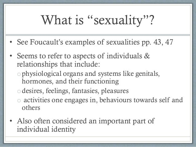 What is sexuality