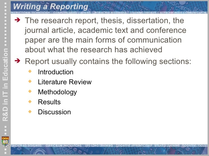 Thesis in educational research