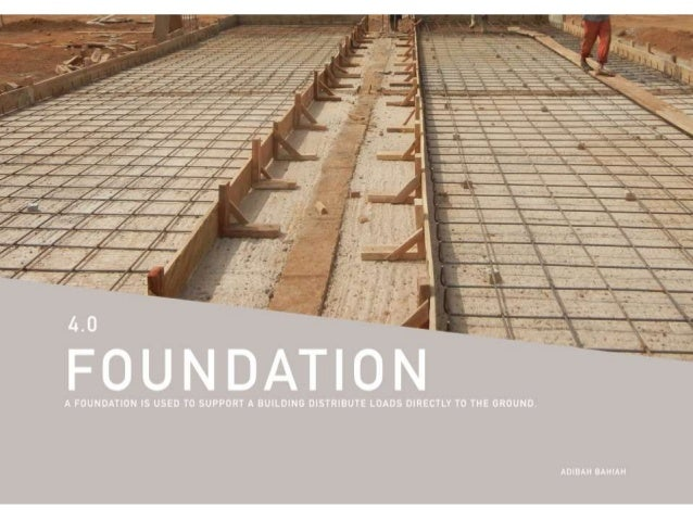 Building Construction - Foundation